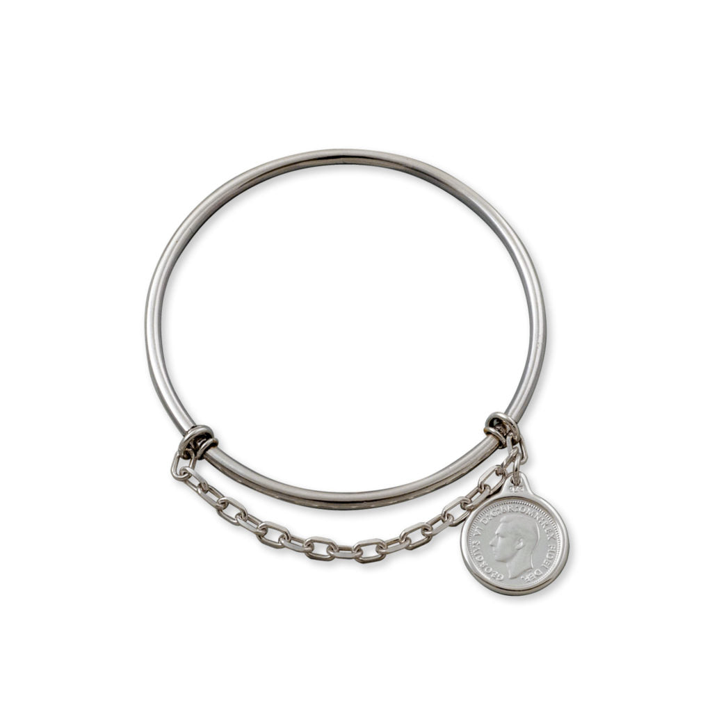 Von Treskow Threepence Coin Charm Bangle SWB05