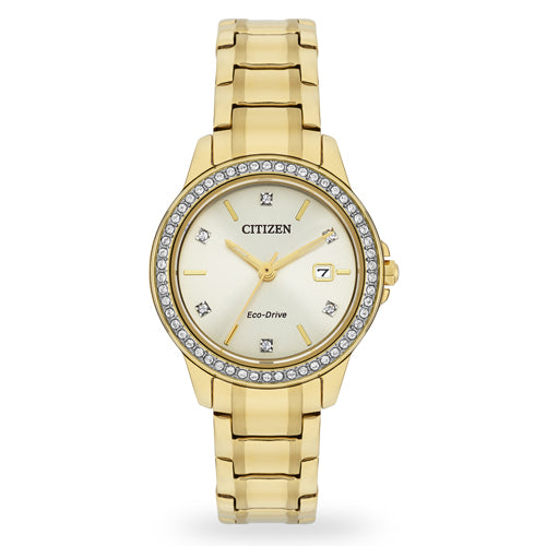 Citizen Eco-Drive Gold Tone Watch FE1172-55P