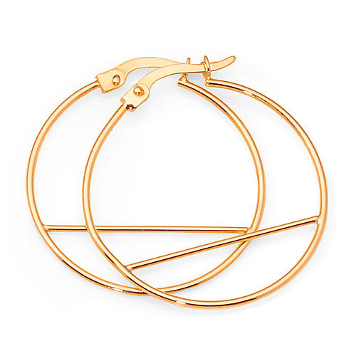 9ct Yellow Gold 25mm Hoop Earrings