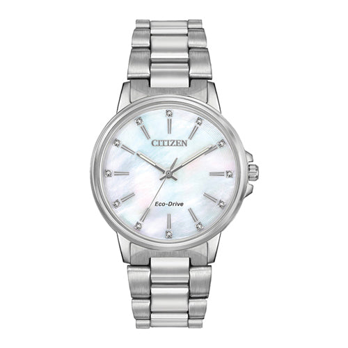 Citizen Eco-Drive Silver Watch FE7030-57D