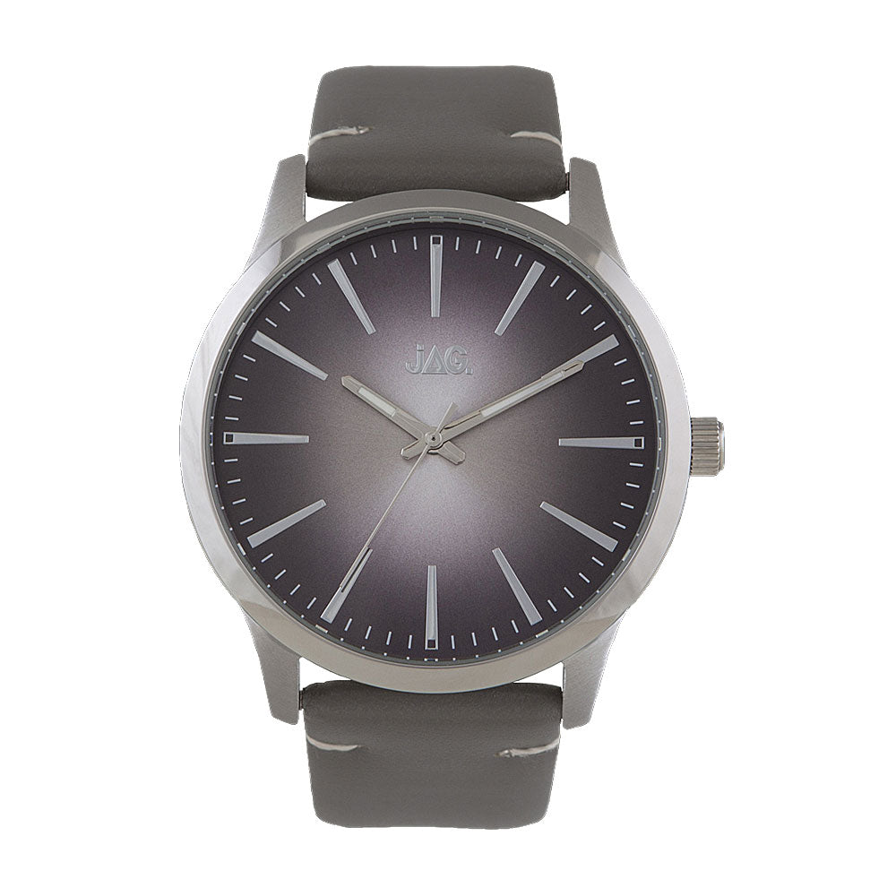 Jag Hunter Grey Leather Strap Watch J2002