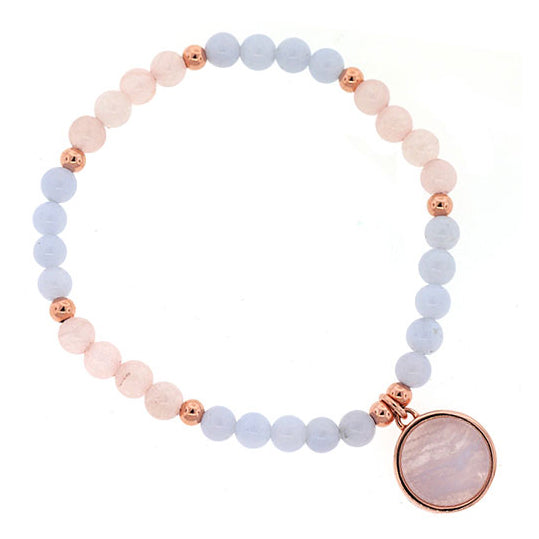 Sterling Silver Natural Stone Children's Bracelet