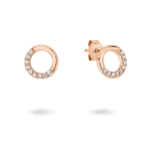 Georgini 'Geo' Rose-Tone 8mm Studs E795RG