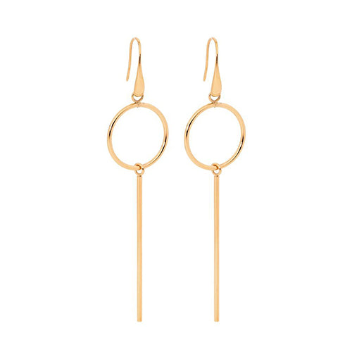 Ellani Gold Tone Stainless Steel Drop Hooks SE178R