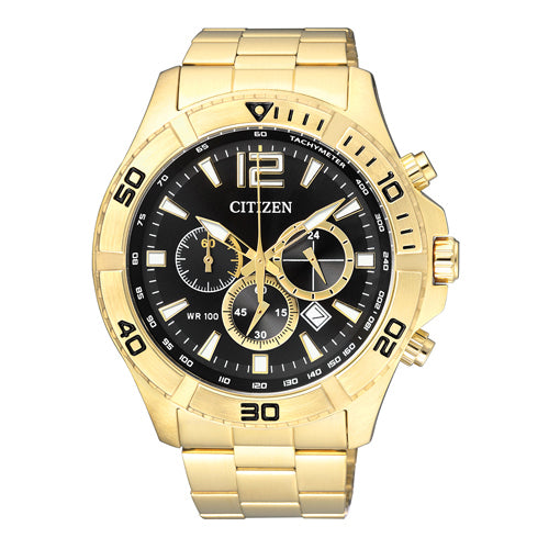 Citizen Chronograph Gold Tone Watch AN8122-51E