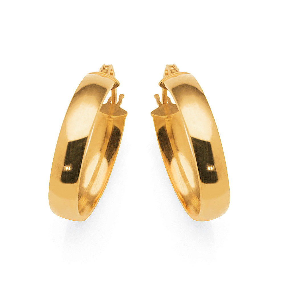 9ct Gold 20mm Hoop Earrings