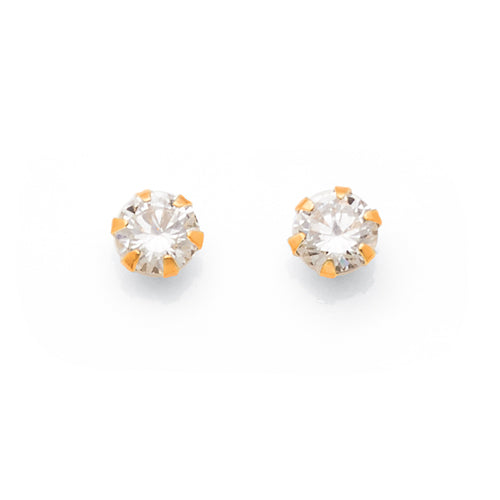 9ct Yellow Gold Cubic Zirconia 3mm Studs