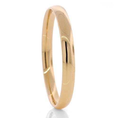 Silver filled gold bangle