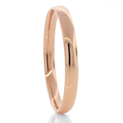 Silver Filled Rose Gold Bangle