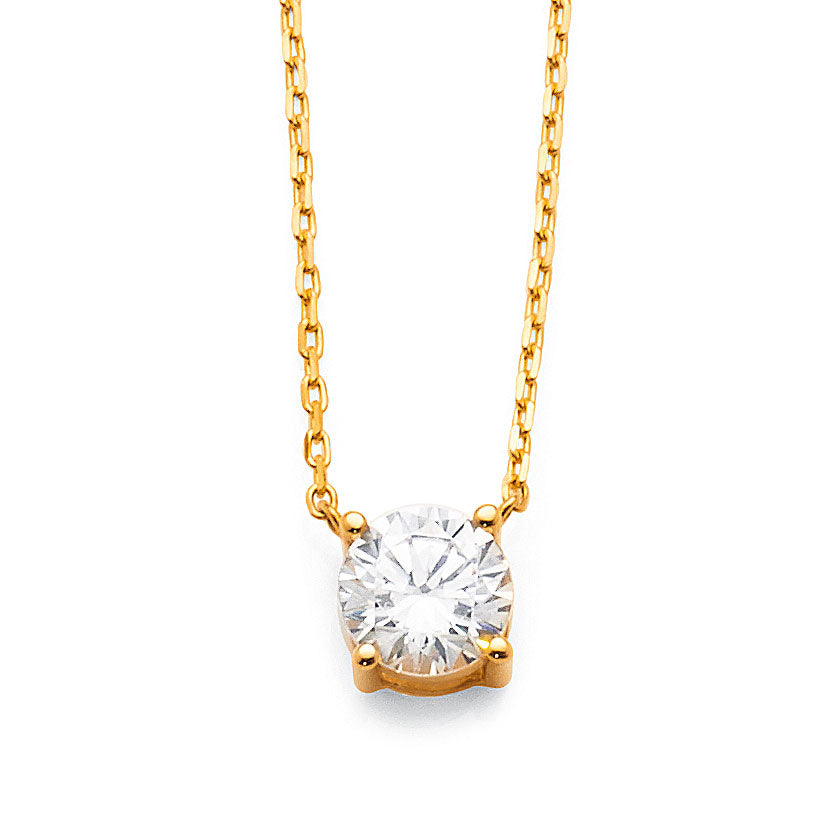 9ct Yellow Gold Cubic Zirconia Necklet
