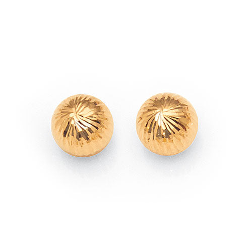 9ct Yellow Gold Ball Studs
