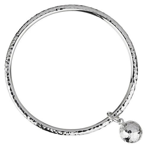 Najo Shayla Bangle Beaten Silver B5105