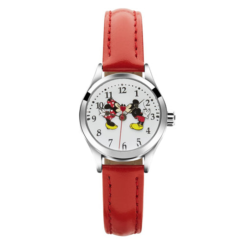 Minnie & Mickey Red Leather Watch TA56731