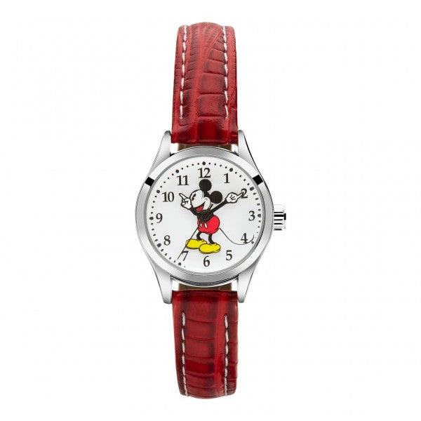 Mickey Mouse Red Leather Watch TA56722