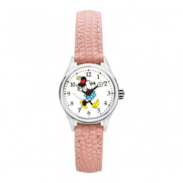 Minnie Mouse Pink Leather Watch TA56723
