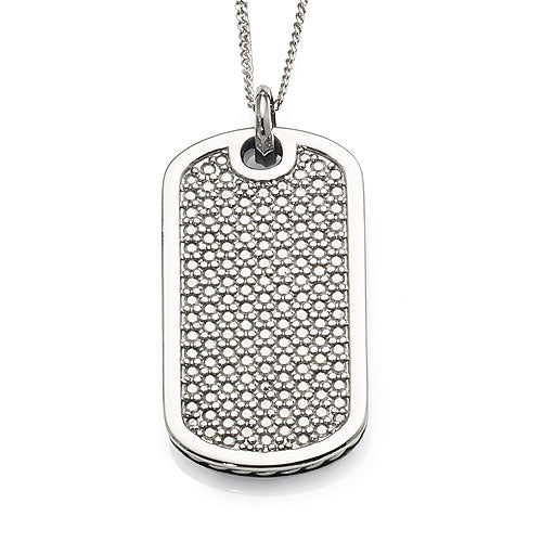 Stainless Steel Mesh Look Tag