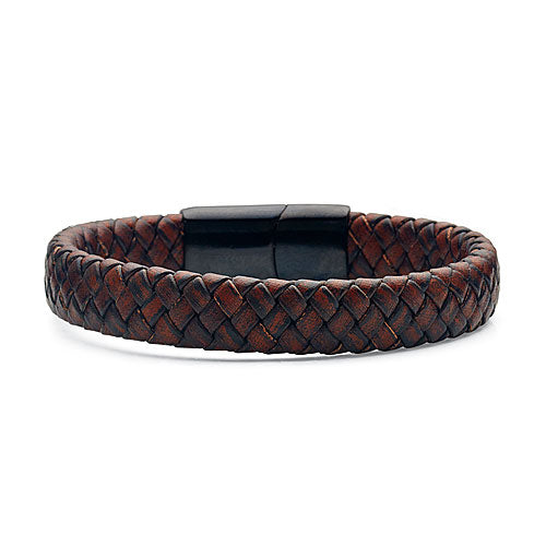 Stainless Steel Leather Bracelet