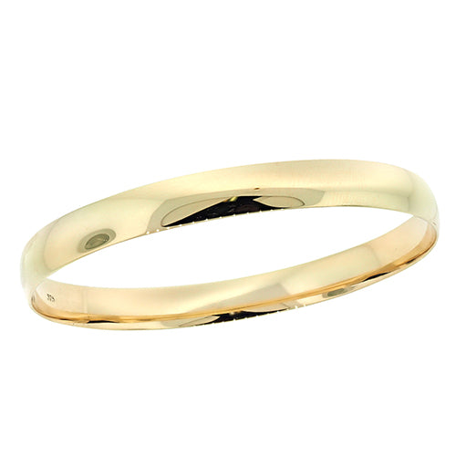Solid 9ct Gold 65mm Bangle