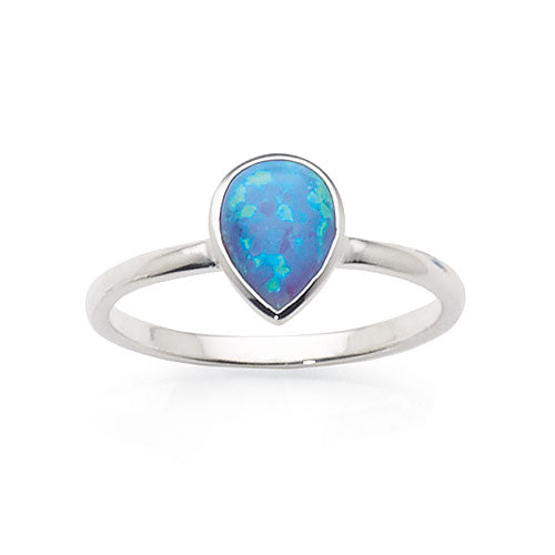 Sterling Silver Reconstituted Opal Ring