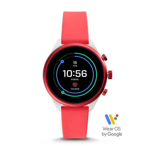 Fossil Sport Smartwatch - Red Silicone FTW6027