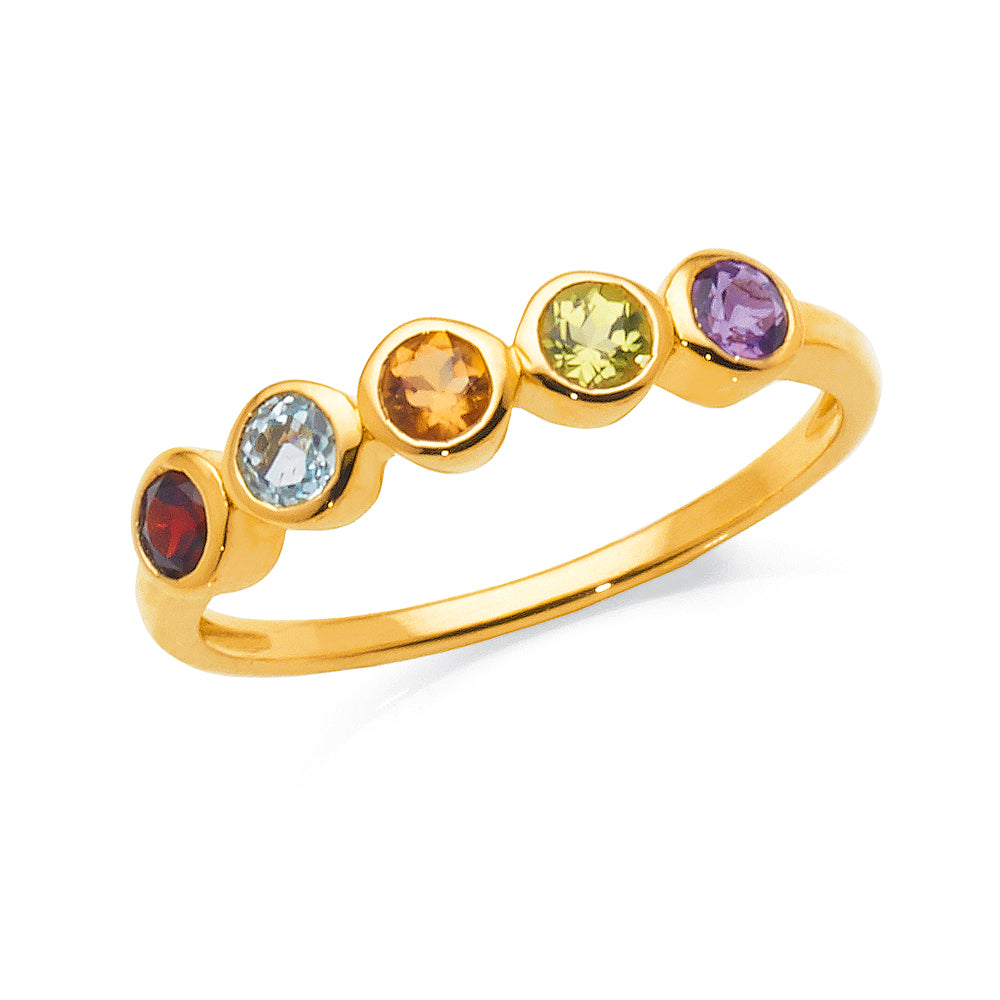 9ct Gold Multi-Stone Ring