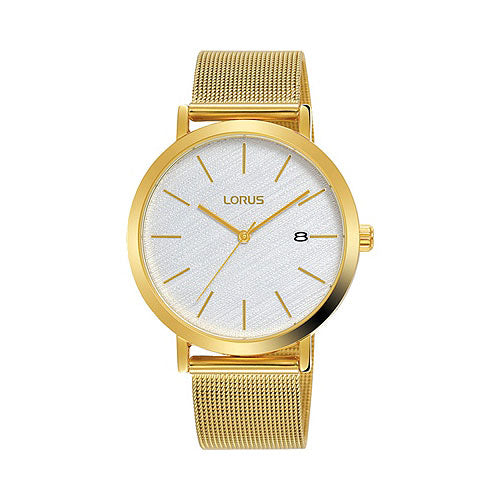 Lorus Gold-Tone Mesh Strap Watch RH916LX-9