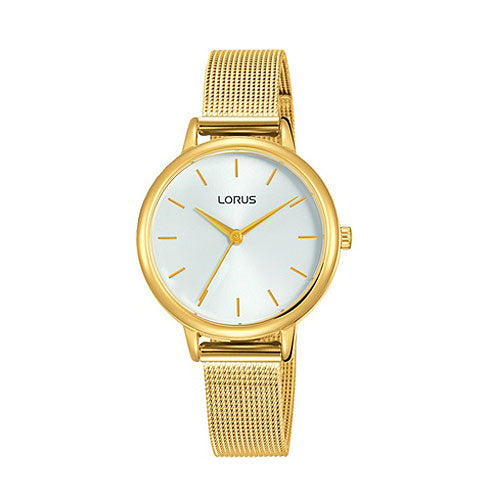 Lorus Gold-Tone Mesh Strap Watch RG250NX-8