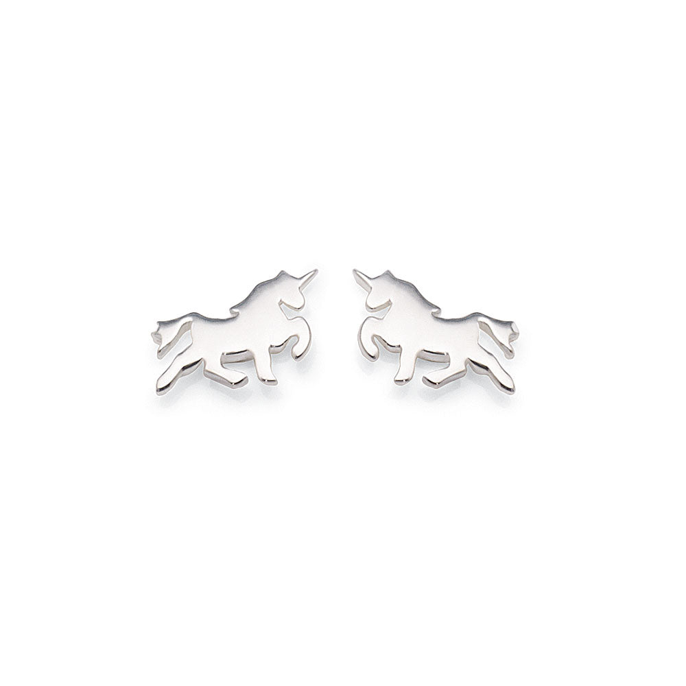 Sterling Silver Unicorn Studs
