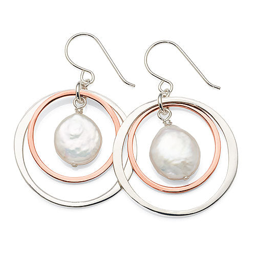 Sterling Silver Baroque Pearl Drop Hooks