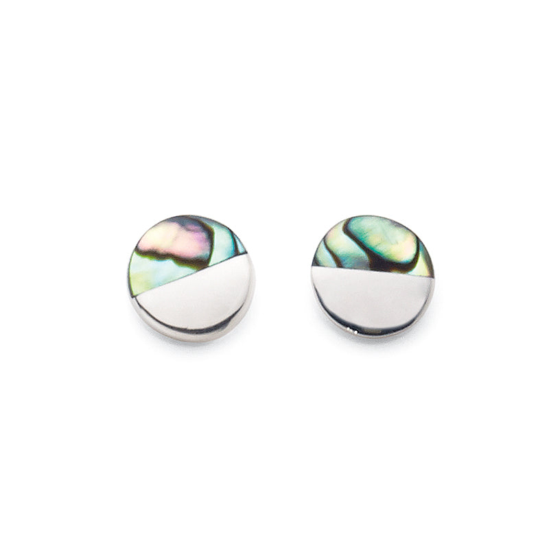Sterling Silver Paua Shell Studs