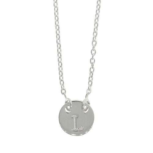 Sterling Silver L Initial Disc Necklet