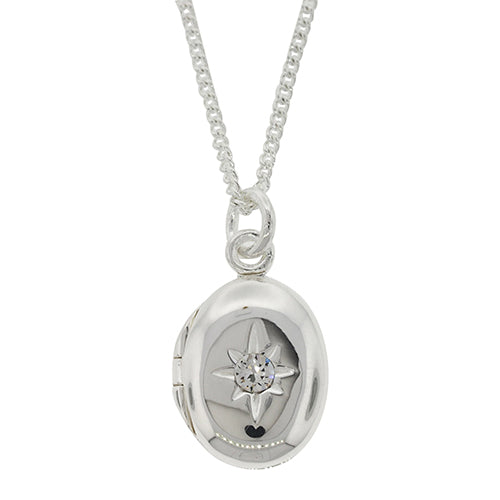 Sterling Silver 14x10mm Oval Locket