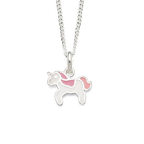 Sterling Silver Children's Unicorn Pendant