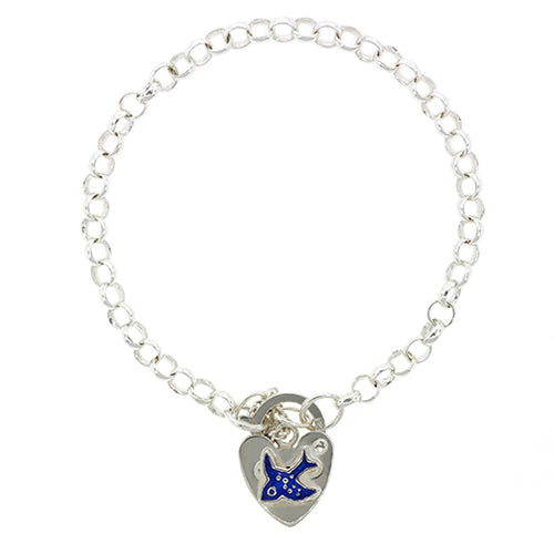 Sterling Silver 13cm Children's Bluebird Bracelet