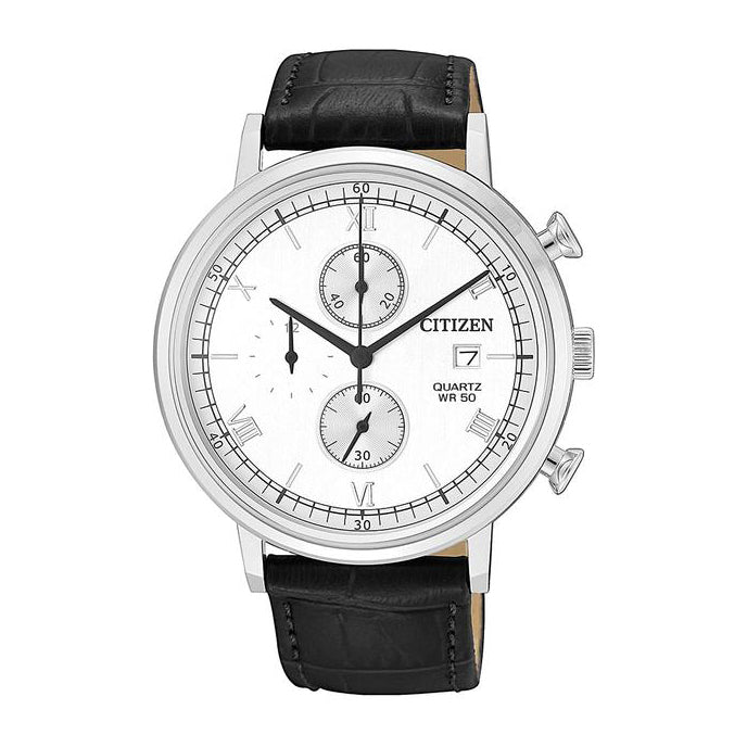 Citizen Leather Chronograph Watch AN3610-12A