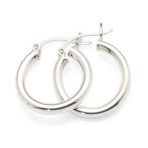 Sterling Silver 14mm Hoops