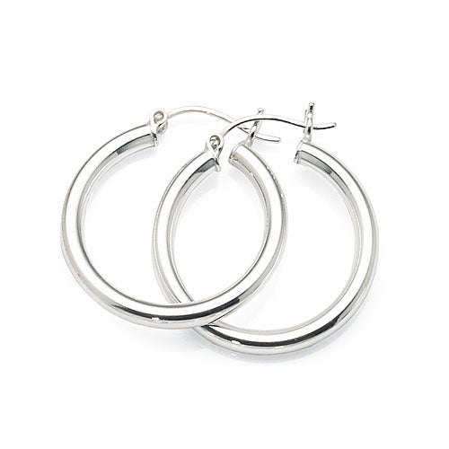Sterling Silver 19mm Hoops
