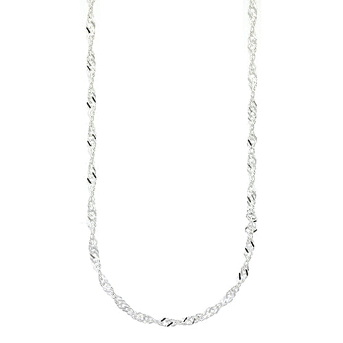 Sterling Silver Singapore Twist Chain