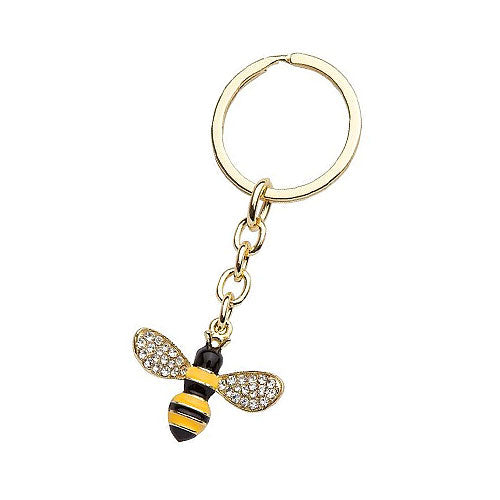 Gold Plated Bee Key Chain