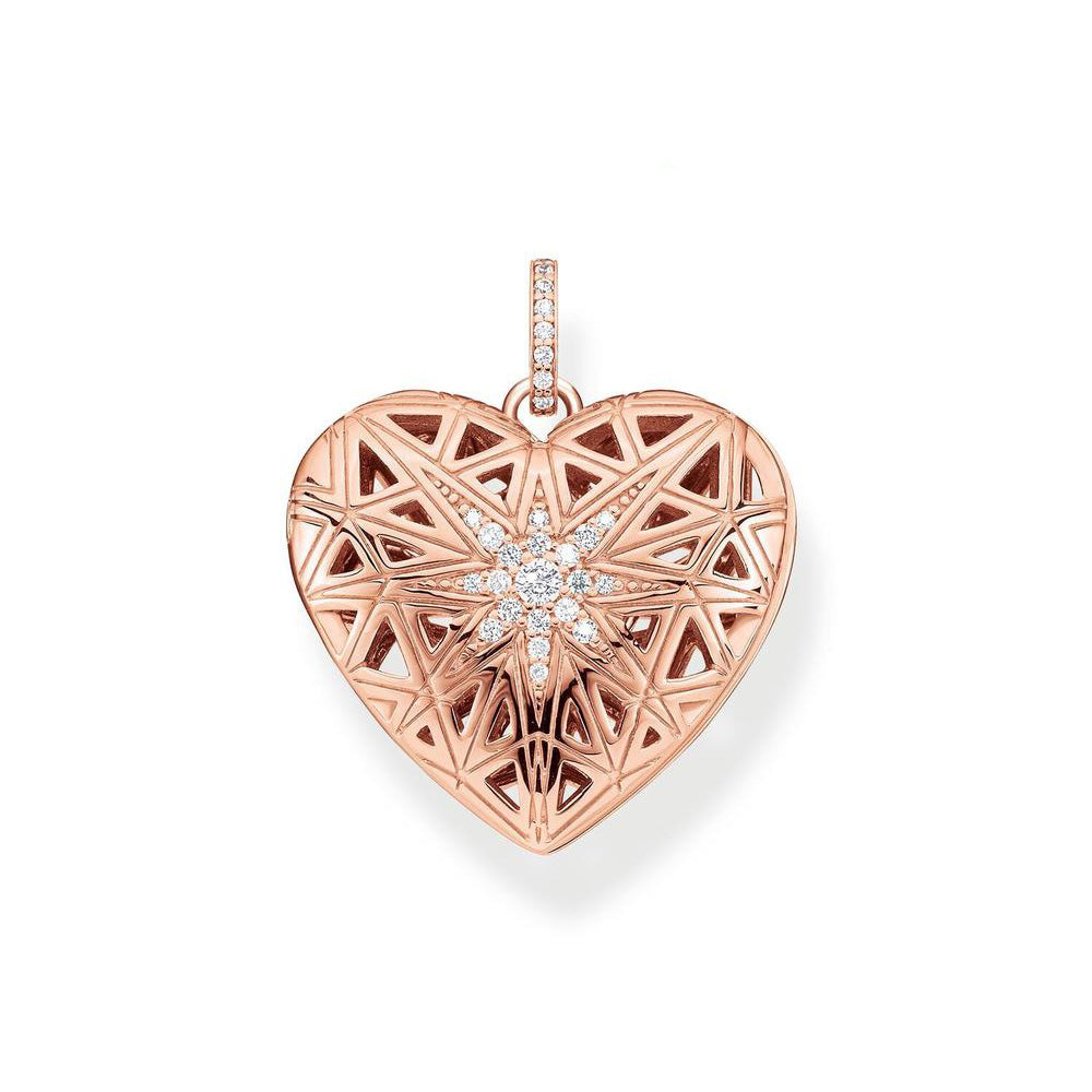 Thomas Sabo Sterling Silver Rose Plated 'Magical Star' Locke
