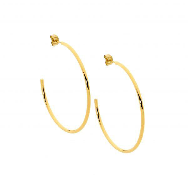 Ellani Gold-Tone 40mm Hoop Earrings SE211G-4