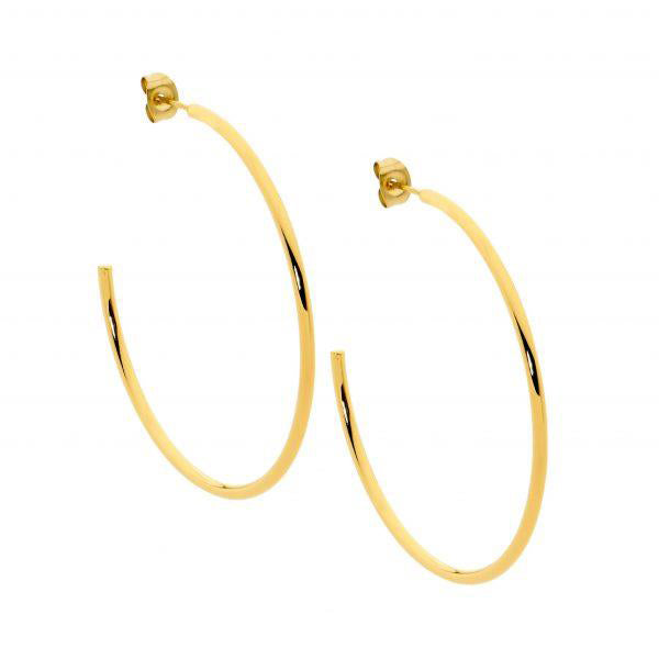 Ellani Gold-Tone 50mm Hoop Earrings SE211G-5