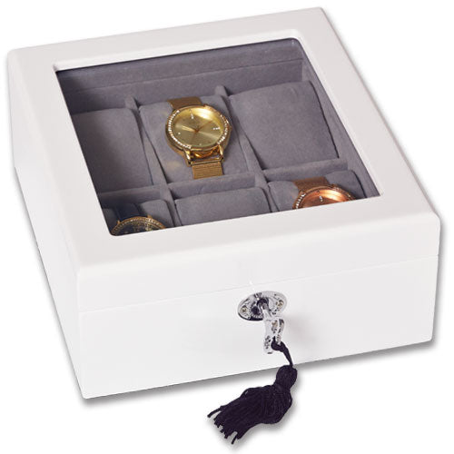 White 'Cambridge' Watch Box