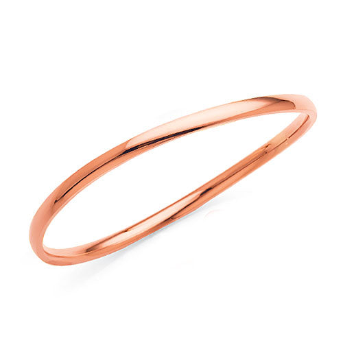Rose-Tone Stainless Steel Bangle