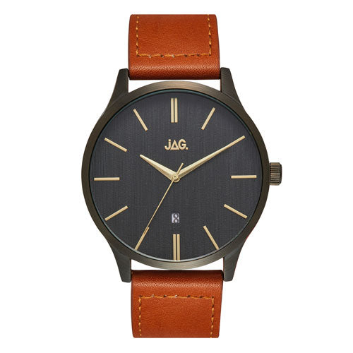 Jag 'Leroy' Leather Strap Watch J2278