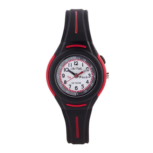 Cactus Black/Red Time Teacher Watch CAC108M01