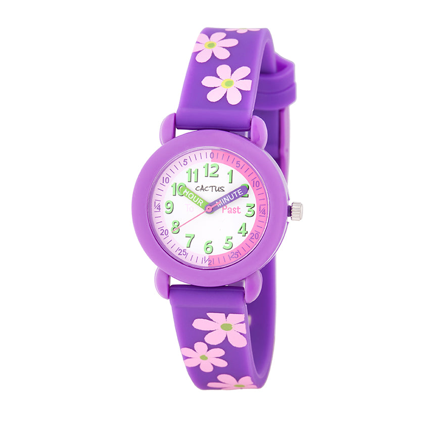 Cactus Purple Time Teacher Kids Watch CAC113M09
