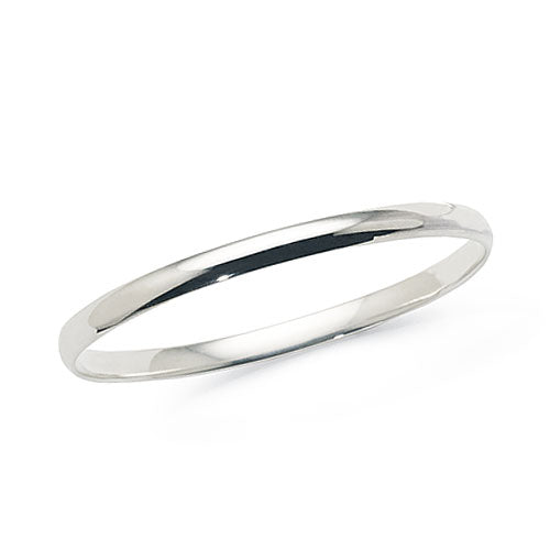 Sterling Silver Children's 45mm Solid Bangle