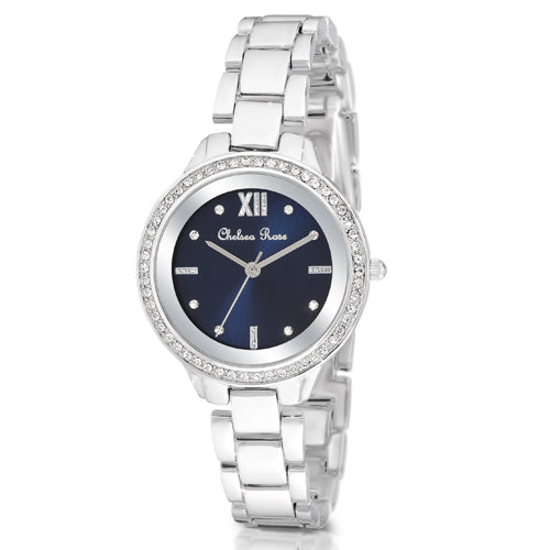 Chelsea Rose Silver-Tone Watch 7251-1CB
