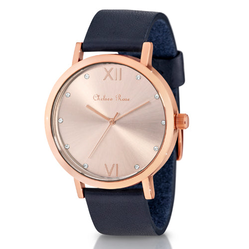 Chelsea Rose Navy Watch 7426-3C4